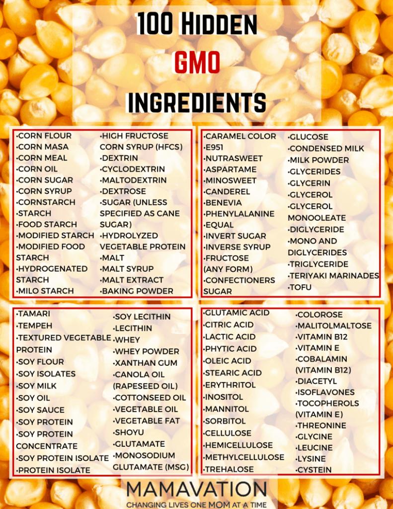 skryte gmo ingredience